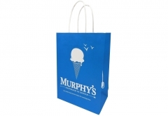 dessert shop cute style white kraft paper bag