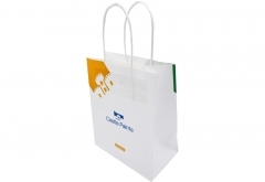 Small and big size simple design White kraft paper bag
