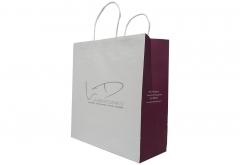 restaurant food take out white kraft paper bag