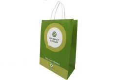 Customized design healthy cosmetic shopping white kraft paper bag