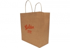 Food shop shopping Brown kraft paper bag