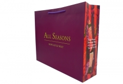 shopping art paper bag with purple handle invogue design