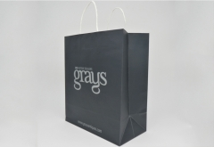 luxury boutique art paper bag with twisted paper handle