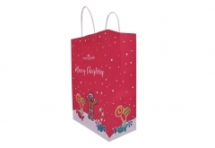 christmas style shopping gift kraft paper bag