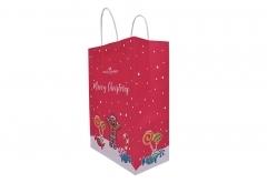 Christmas style shopping gift kraft paper bag