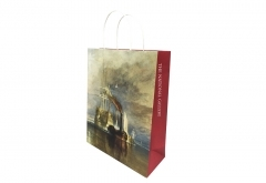 Museum art design shopping paper bag