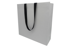 Fashion shoes shop art paper bag with folding line