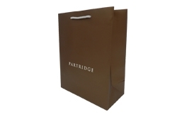 heavy art paper bag with foil stamping and embossing