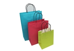in stock cheap paper bags with twisted paper handle