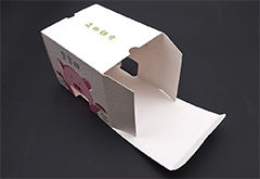 white card box with die cut for food