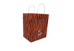 animal pattern style high quality white kraft bag