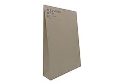 custom design kraft paper envelope with velcro