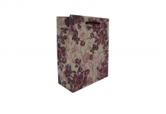 Floral pattern paper bag with brown handle