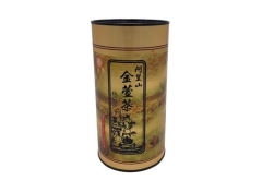 round paper tube with metal lid for tea - custom printed
