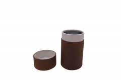 custom printed small round calico paper tube with paper lid