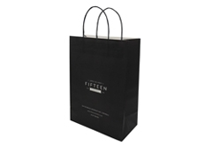 FSC paper bags with twisted paper handle