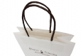 Syncmen-Chocolate shop Simple Logo printed small white kraft bag-handle view