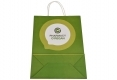 Customized design healthy cosmetic shopping white kraft paper bag-back view