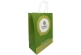 Customized design healthy cosmetic shopping white kraft paper bag-side view2