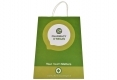 Customized design healthy cosmetic shopping white kraft paper bag-Front side view2