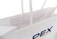 Profession public image white kraft paper bag-handle view
