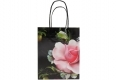 Pretty Luxury design boutique shopping white kraft paper with gloss varnish-Front side view