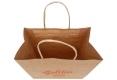 Food shop shopping Brown kraft paper bag - handle view