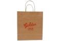 Food shop shopping Brown kraft paper bag -Front side view