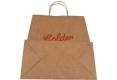 Food shop shopping Brown kraft paper bag- back side