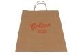 Food shop shopping Brown kraft paper bag -Front side view2