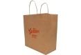 Food shop shopping Brown kraft paper bag -side view