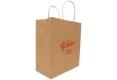 Food shop shopping Brown kraft paper bag -side view2