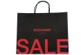 Simple style Boutique brown kraft paper bag with black handle-front side view