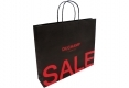 Simple style Boutique brown kraft paper bag with black handle-back side view2