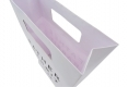 Concise design groceries store paper bag with die cut handle-handle side view