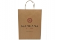 Promotional brown paper bag with custom design-front side view