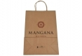 Promotional brown paper bag with custom design-back side view