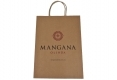 Promotional brown paper bag with custom design-front side view2