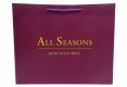 Invogue design shopping art paper bag with purple handle-front side view