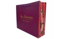 Invogue design shopping art paper bag with purple handle-side view