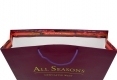 Invogue design shopping art paper bag with purple handle-handle side view