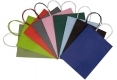 Cheap eco stock white kraft paper bag with handle-colors