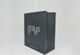 Luxury Boutique art paper bag with twisted paper handle-side view2