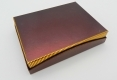 Chocolate gift rigid paper box-back side view