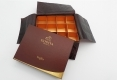 Chocolate gift rigid paper box-open