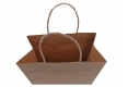 No printing brown kraft paper bag-handle view