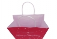 Christmas style shopping gift kraft paper bag-handle view