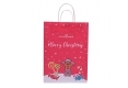 Christmas style shopping gift kraft paper bag-front side view2