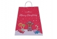 Christmas style shopping gift kraft paper bag-front side view