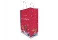 Christmas style shopping gift kraft paper bag-side view2